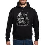 Tortoise Short-Hair Cat Hoodie (dark)