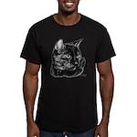 Tortoise Short-Hair Cat Men's Fitted T-Shirt (dark