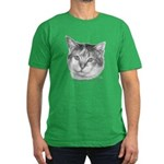 Calico Cat Men's Fitted T-Shirt (dark)