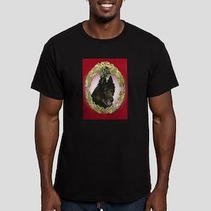 Belgian Tervuren Christmas Men's Fitted T-Shirt (d