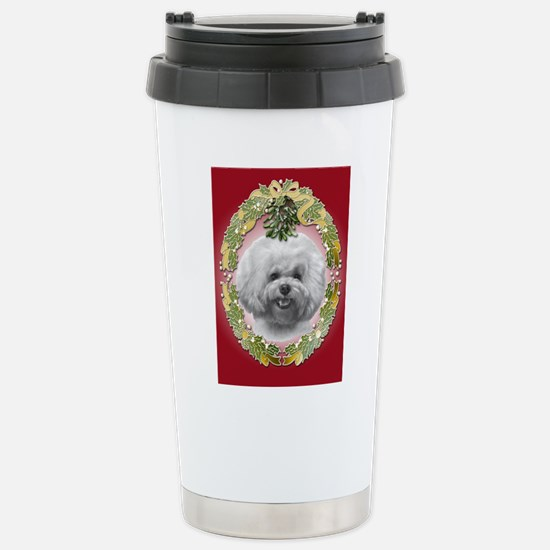 Bichon Frisé Christmas Stainless Steel Travel Mug