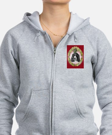 English Springer Spaniel Mist Zip Hoodie