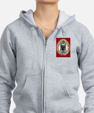 German Shepherd K9 Christmas Zip Hoodie