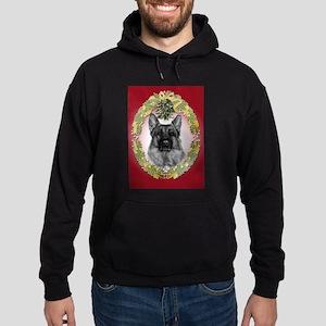 German Shepherd K9 Christmas Hoodie (dark)