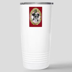 Fox Terrier Christmas Stainless Steel Travel Mug
