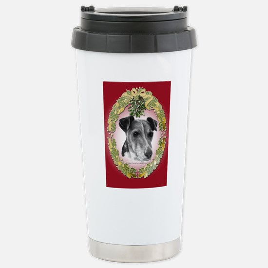 Fox Terrier Christmas Stainless Steel Travel Mug