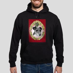 Fox Terrier Christmas Hoodie (dark)