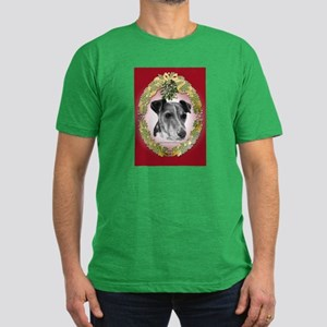 Fox Terrier Christmas Men's Fitted T-Shirt (dark)