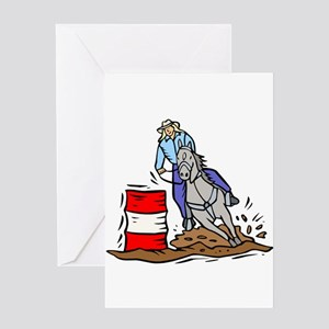 BARRELL RACER (1) Greeting Card
