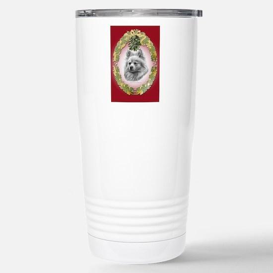 Pomeranian Christmas Stainless Steel Travel Mug