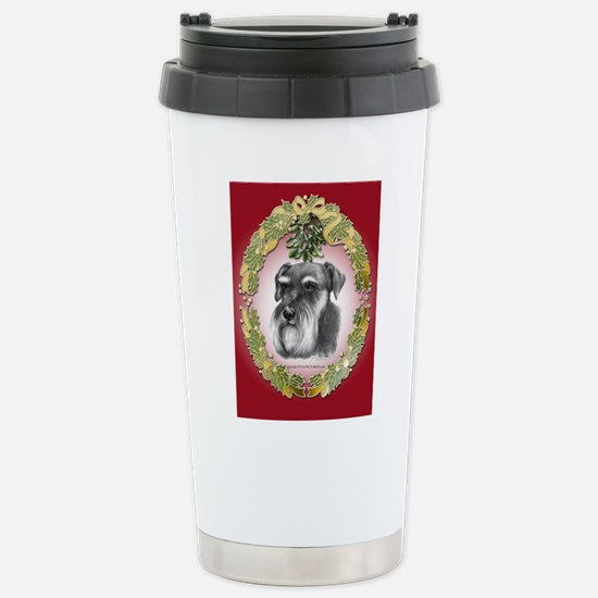 Schnauzer Christmas Stainless Steel Travel Mug