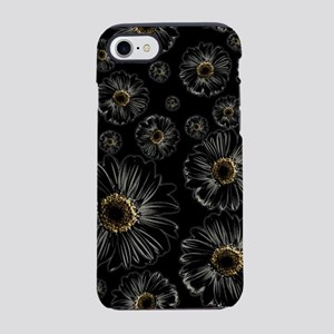 Gothic Black Daisy Pattern iPhone 7 Tough Case