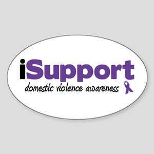 iSupport Domestic Violence Oval Sticker