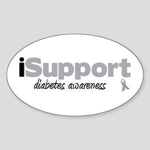 iSupport Diabetes Oval Sticker