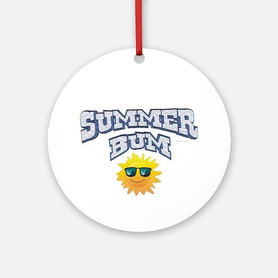 Summer Bum Round Ornament