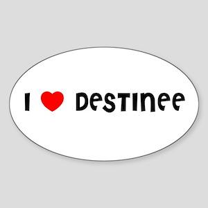 I LOVE DESTINEE Oval Sticker