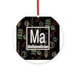 Mathematician Retro Ornament (Round)