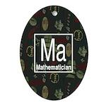 Mathematician Retro Oval Ornament