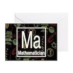 Mathematician Retro Greeting Cards (Pk of 10)