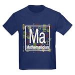 Mathematician Retro Kids Dark T-Shirt
