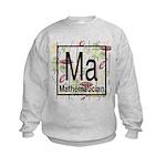 Mathematician Retro Kids Sweatshirt