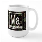 Mathematician Retro Dark Large Mug