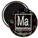 Mathematician Retro Magnet