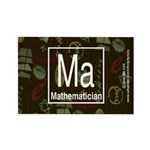 Mathematician Retro Rectangle Magnet (10 pack)