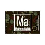 Mathematician Retro Rectangle Magnet