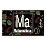 Mathematician Retro Rectangle Sticker 10 pk)