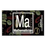Mathematician Retro Rectangle Sticker