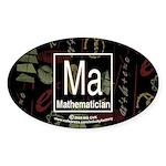 Mathematician Retro Oval Sticker (10 pk)
