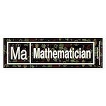 Mathematician Retro Bumper Sticker (50 pk)