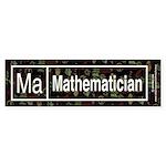 Mathematician Retro Bumper Sticker (10 pk)