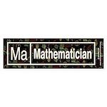 Mathematician Retro Bumper Sticker