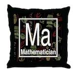 Mathematician Retro Throw Pillow