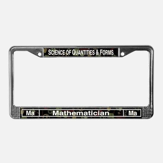 Mathematician Retro License Plate Frame