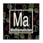 Mathematician Retro Tile Coaster