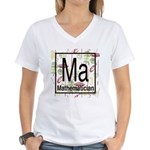 Mathematician Retro Women's V-Neck T-Shirt