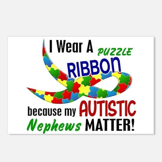 I Wear Puzzle Ribbon Nephews 33 Postcards (Package