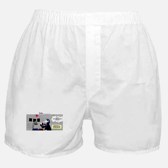 Cute Duck crossing photo photography comic humor Boxer Shorts