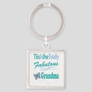 Fabulous Grandma Square Keychain