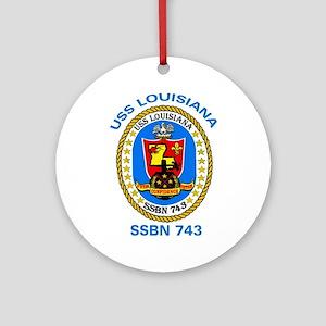 USS Louisiana SSBN 743 Ornament (Round)
