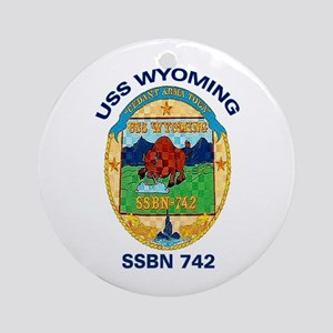 SSBN 742 USS Wyoming Ornament (Round)