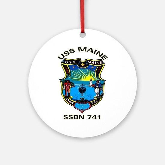 USS Maine SSBN 741 Ornament (Round)