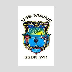 USS Maine SSBN 741 Rectangle Sticker
