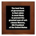 James Monroe Quotation Framed Tile