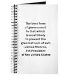 James Monroe Quotation Journal