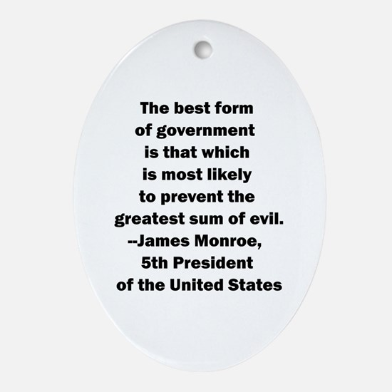 James Monroe Quotation Oval Ornament