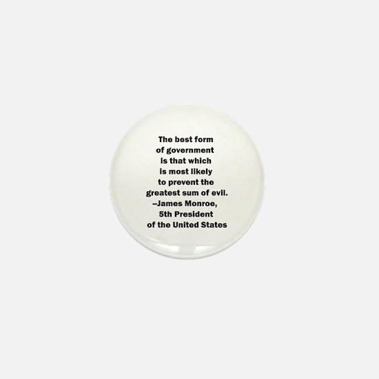 James Monroe Quotation Mini Button